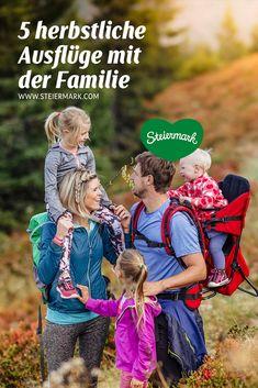 Ab ins Freie: Wohin uns die herbstlichen Ausflüge heuer führen? Natürlich hinaus in die Natur. 5 Tipps für schöne Familienausflüge in der Steiermark gibt's von uns. Couple Photos, Couples, Family Vacations, Nature, Tips, Nice Asses, Couple Shots, Couple Photography, Couple