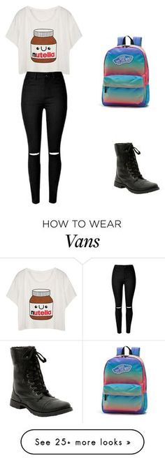 """""""Untitled #1928"""" by ncmilliebear on Polyvore featuring Vans, women's clothing, women, female, woman, misses and juniors"""