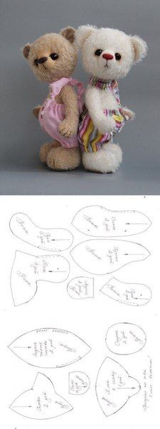 Teddy bear Pattern Makeup Ideas makeup ideas for 15 year olds Animal Sewing Patterns, Stuffed Animal Patterns, Doll Patterns, Bear Patterns, Stuffed Animals, Teddy Bear Sewing Pattern, Plush Pattern, Fabric Animals, Fabric Toys