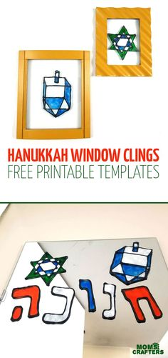 Make some fun DIY Hanukkah window clings witha super fun free printable template! This sweet Chanukah craft for kids and adults make great Hannukah decor Hanukkah Crafts, Hannukah, Hanukkah Decorations, Holiday Crafts, Diy Craft Projects, Craft Tutorials, Crafts For Kids, Craft Ideas, Diy Ideas
