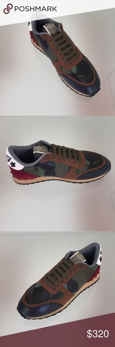 Valentino Sneakers Camo Size 11 Authentic Guaranteed, Retails over $700. New never Worn before, comes with Box and Dustbag. I Ship SAME DAY, extra fast Always. Shoes Sneakers
