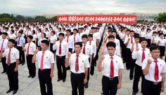 조선청년전위들의 맹세모임 진행-《조선의 오늘》
