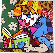 Romero Britto - menina e livro