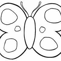 Desenho de Molde de borboletas para colorir