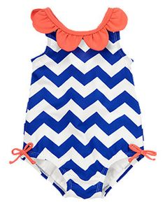 Chevron Petals Swimsuit ---> I saw this one at Gymboree but it didn't come in Rylee's size. :(