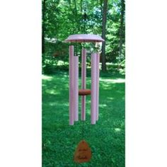 """34"""" For the Girls Breast Cancer Awareness Hand-Tuned Pink Windchime Made in USA"""