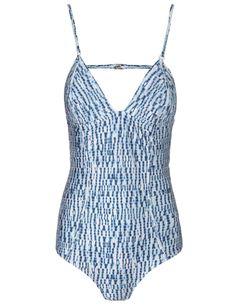 Shibori Porcelain Quilted Swimsuit | Zimmermann | Avenue32