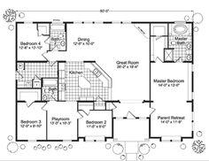 modular home floor plans 4 bedrooms   Fuller Modular Homes - Timber Ridge Modular Home Floor Plan
