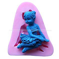 forma menina anjo molde fondant bolo decoração do molde
