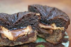 Out of this World Peanut Butter {chocolate-chip brownie} Cups - Heather's French Press