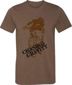 04cfe53f8 Bicycle T-shirt-Mountain Bike T-shirt Chasing by SpokeNwheelz Bikes Direct