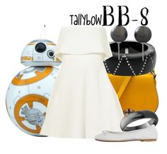 """BB-8"" by tallybow ❤ liked on Polyvore featuring Alexis Bittar, Elizabeth and James, Bling Jewelry and DIENNEG"