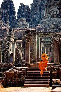 Ангкор-Том, Камбоджа 12th Century, Angkor, Temples, Cambodia, Four Square, Sunrise, Traveling, Architecture, Arquitetura