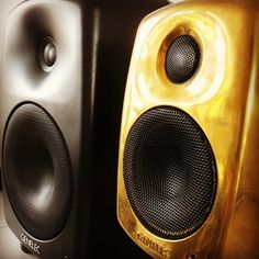 the golden boy. #golden #Genelec #6010A #speaker photo by Andrea Milana