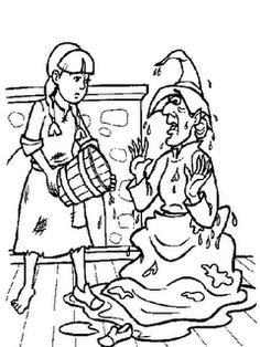 dorothy gave the witch a bath