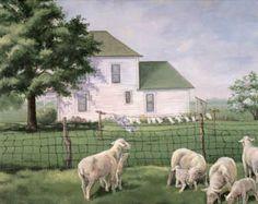 Spring Sheep Art Print Poster CatalogItem at AllPosters.com
