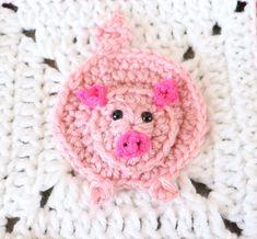 Crochet Applique Patterns Free, Granny Square Crochet Pattern, Crochet Squares, Free Pattern, Felt Patterns, Crochet Appliques, Animal Patterns, Crochet Granny, Granny Squares