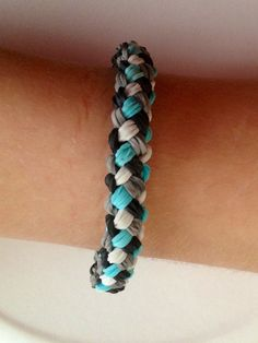 Weave+Bracelet+by+EmmasCoolCreations+on+Etsy,+$5.00 made with rainbow loom bands...I want to learn how to make this!