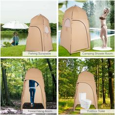TOMSHOO Portable Outdoor Shower Bath Changing Fitting Room Tent Shelter Camping Beach Toilet - Walmart.com - Walmart.com Portable Outdoor Shower, Portable Tent, Portable Toilet, Toilet Tent, Outdoor Toilet, Outdoor Shower Enclosure, Shower Tent, Bath Shower, Beach Camping