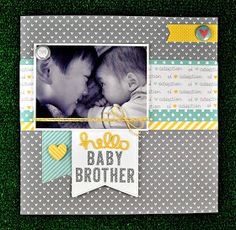 the Lawn Fawn blog: Hello Baby Brother by Deb