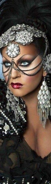Metal Fashion, Style Fashion, Friends Are Like, Love You All, Black Magic, Headdress, Beauty Women, Halloween Face Makeup, Veils