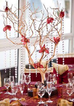 Manzanita Branches Wedding Centerpieces Ideas
