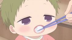 Say 'aaaa' Cute Anime Chibi, Anime Love, Manga Art, Manga Anime, Gakuen Babysitters, Love Stage, Comedy Anime, Anime Child, Kagehina