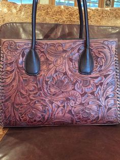 Juan Antonio Tooled Leather Western Handbag Purse REDUCED $50 | eBay