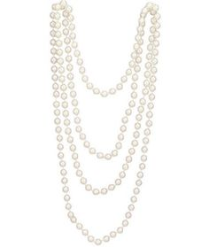 White Flapper Beads | ACCESSORIES
