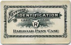 Keystone Identification Card Case. Railroad pass case