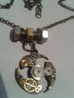 STEAMPUNK (In A Spin) Pendant on Etsy, £139.00