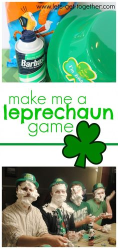 10 Things for a Family-Style St. Patrick's Day Make Me a Leprechaun Game from Let's Get Together-one of several fun and simple games for St. Patrick's Day. This one sounds hilarious! St Patricks Day Spiele, St. Patricks Day, 1st Birthday Games, Birthday Games For Adults, 21st Birthday, St Patrick's Day Games, Games For Kids, Fun Games, Group Games