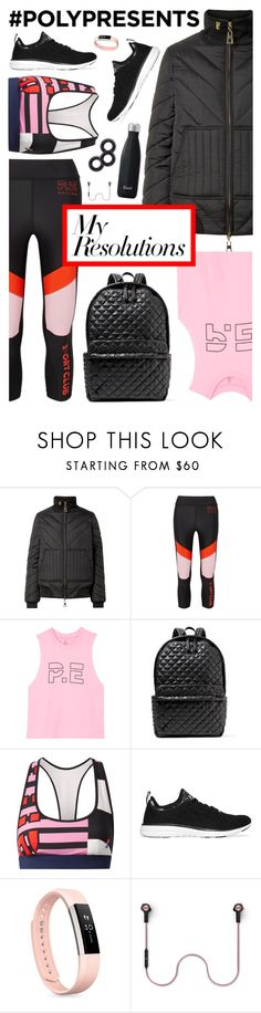 """""""#PolyPresents: New Year's Resolutions: Be More Active"""" by almost-glamorous ❤ liked on Polyvore featuring P.E Nation, M Z Wallace, Athletic Propulsion Labs, Fitbit, Bang & Olufsen, Invisibobble, contestentry and polyPresents"""