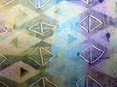 Tutorial: Gelli® Printing on Sheer Fabrics! Printing on stabilized sheer fabrics is as easy as printing on paper! For information about printing on a silk habotai scarf — take a look here.