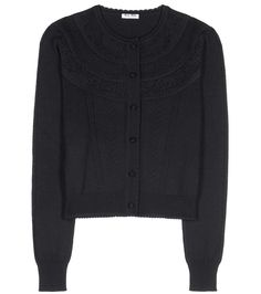 MIU MIU Wool Pointelle Cardigan. #miumiu #cloth #cardigan