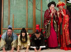 """White actors play Japanese roles in the production of """"The Mikado."""""""