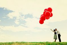 I want pictures themed from up. :) Maybe engagement photos.