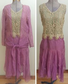 1920s Flapper Dress & Jacket as-is by HatsToSpats on Etsy