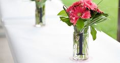 Use letters or numbers to personalize vases for cernterpieces!