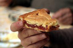 eating jam tart