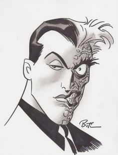 Two Face by Bruce Timm, in Eric Peters's Convention Sketches & Commissions Comic Art Gallery Room - 1286950