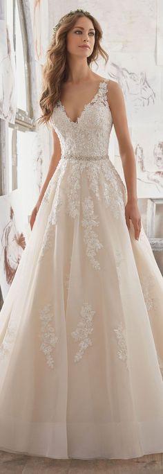 Mori Lee by Madeline Gardner Wedding Dress Collection Blu Spring 2017 #WeddingDress #WeddingDresses #BridalGown #Bride #Wedding #BridalDress #BridalCollection #BridalFashion #BallGown #SophisticatedBride