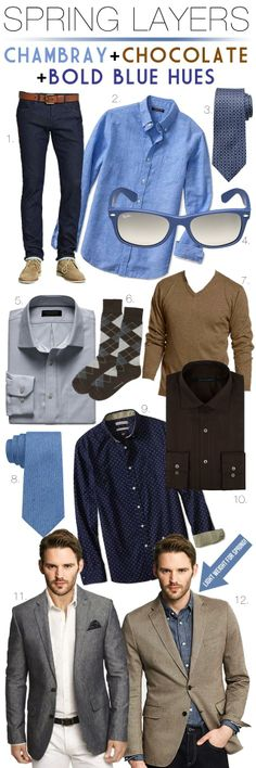 men's fashion, street style, spring layers, summer suit jackets, brown suit, chambray, bold blue, style advice, tropical wool, cotton, linen and seersucker, indigo prints, spring jacket, chocolate brown, denim shirt, argyle, ray-bans, weatherproof, cashmere, Macy's, Express, Banana Republic, cool style, stay cool, men's fashion blog, fashion blogger, blog