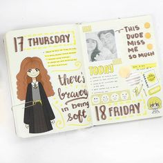 Looking for Harry Potter bullet journal inspiration? We've got monthly spreads and mood trackers that are totally MAGIC! Bullet Journal Student, Bullet Journal Notes, Bullet Journal Junkies, Bullet Journal Ideas Pages, Bullet Journal Inspiration, Journal Prompts, Harry Potter Journal, Harry Potter Diy, Sketch Notes