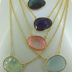 The Talpe Gemstone Necklace - SO 'now'! £48