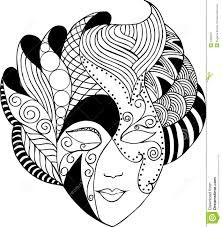 Illustration about Graphic vector venetian mask in black and white. Illustration of blackandwhite, mardi, vector - 4255697 Coloring Book Pages, Printable Coloring Pages, Alpona Design, Mascaras Halloween, Mask Drawing, Carnival Masks, Zentangle Patterns, Art Plastique, Mandala Art