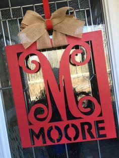 A personal favorite from my Etsy shop https://www.etsy.com/listing/499315768/monogram-name-door-hanger-monogram-door