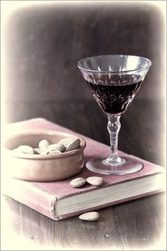 Glass of Port and Almonds