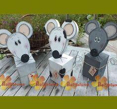 Holzpfosten Maus mit Mausefalle