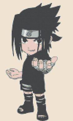 Naruto - Chibi Sasuke- ninja version - pdf cross stitch pattern istant dowlonad  - schema a punto croce formato PDF scaricabile on Etsy, $3.50